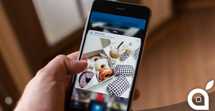 L'ultimo aggiornamento di Instagram porta il 3D Touch anche sui dispositivi più datati
