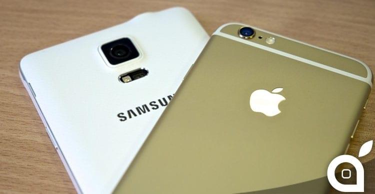 samsung apple smartphone