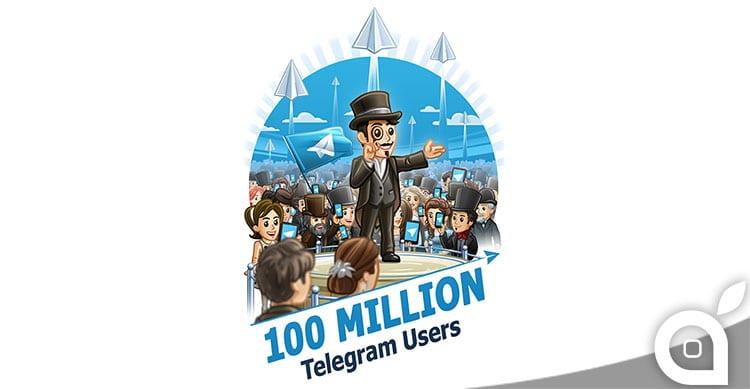 telegram 100000000 utenti attivi