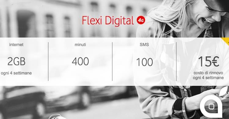 Ecco tutti i dettagli della nuova offerta Flexi Digital di Vodafone