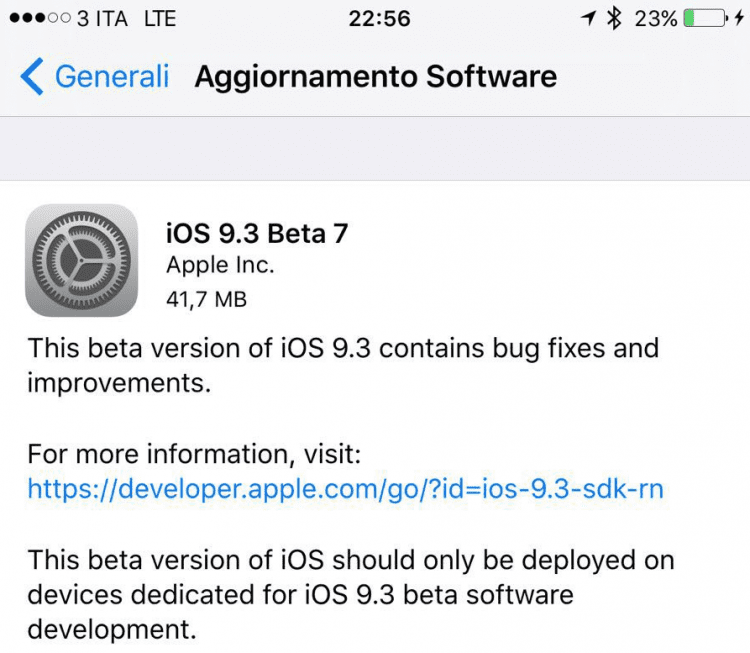 Apple released the seventh beta of iOS 9 3: availa    | BitFeed co