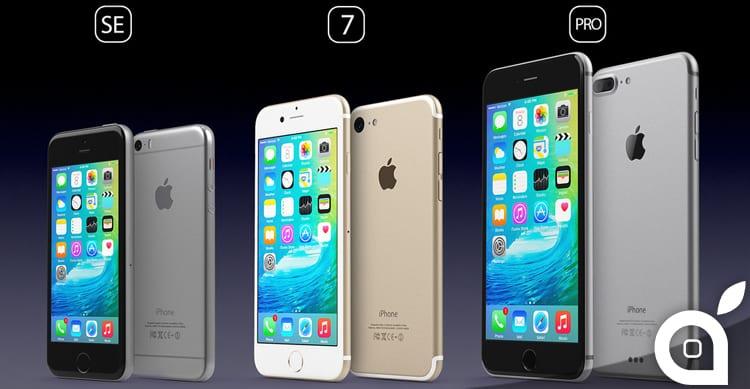 Un bellissimo concept mostra il possibile design di iPhone SE, iPhone 7 e iPhone Pro