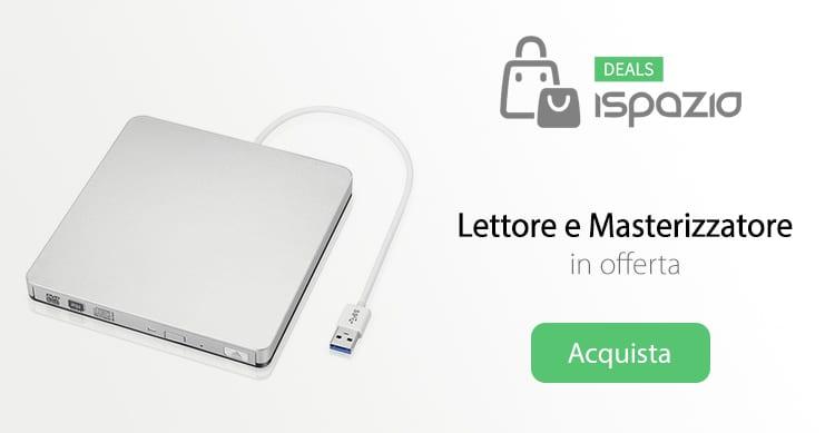 Lettore e Masterizzatore CD/DVD esterno, ultra sottile e portatile, in offerta con iSpazio