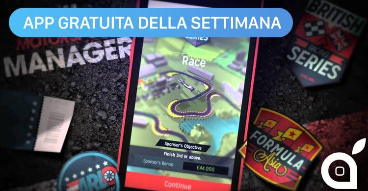 Apple regala Motorsport Manager con l'App della Settimana. Approfittatene ora risparmiando 1,99€!