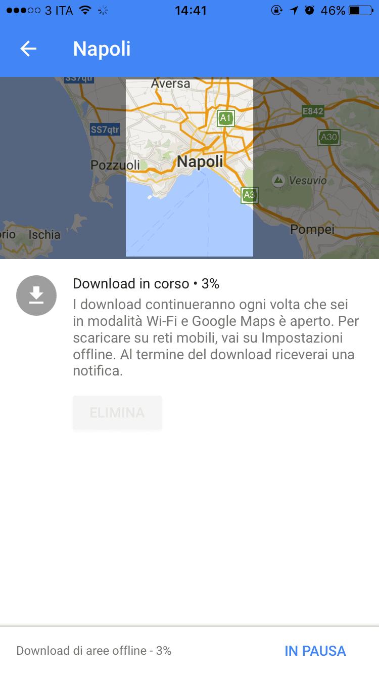 come scaricare mappe offline google maps