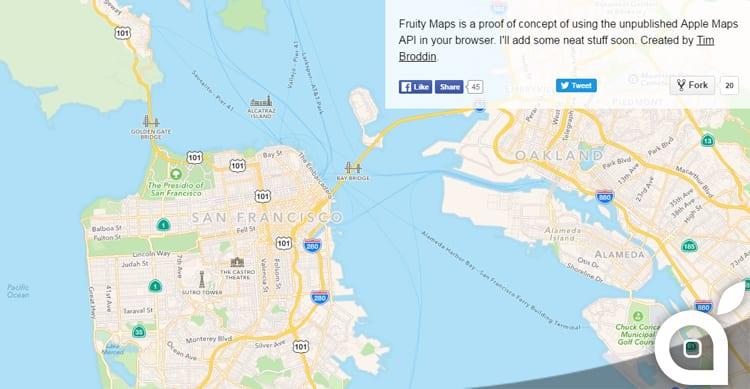 Ecco il primo concept delle Mappe di Apple in versione web