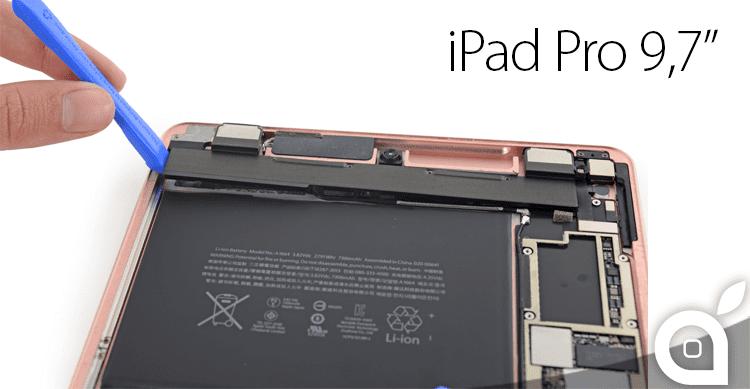 iFixit smonta l'iPad Pro da 9,7″ rivelando la difficoltà della riparazione