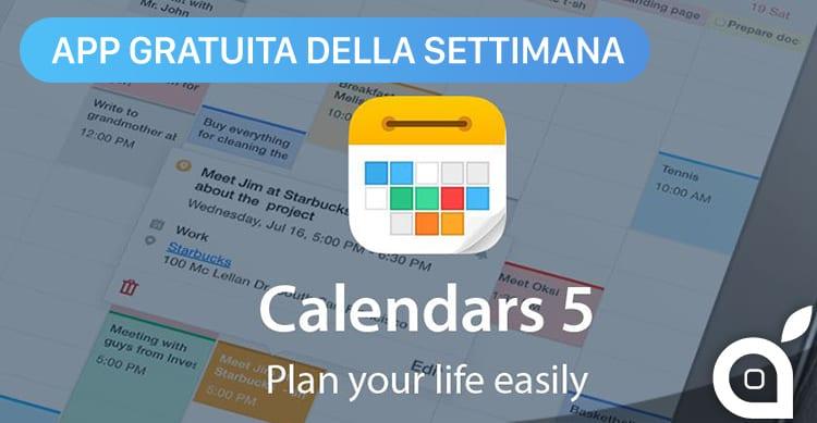 Apple regala Calendars 5 con l'App della Settimana. Approfittatene ora risparmiando 6,99€!
