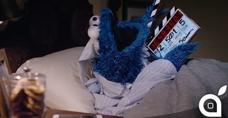 """Apple pubblica il """"dietro le quinte"""" del nuovo spot dell'iPhone 6S con protagonista Cookie Monster [Video]"""