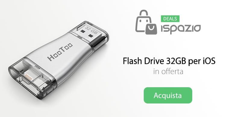 Offerta lampo: Flash Drive HooToo, che aggiunge 32GB di memoria al tuo iPhone, a soli 29,99€