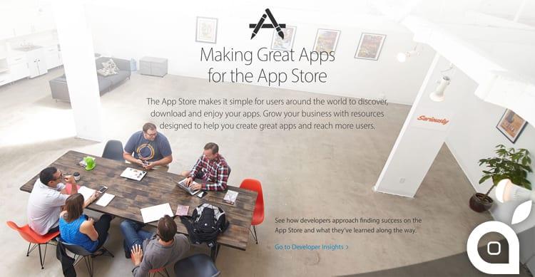 Come creare app di successo, lo spiega Apple con una pagina tutta nuova