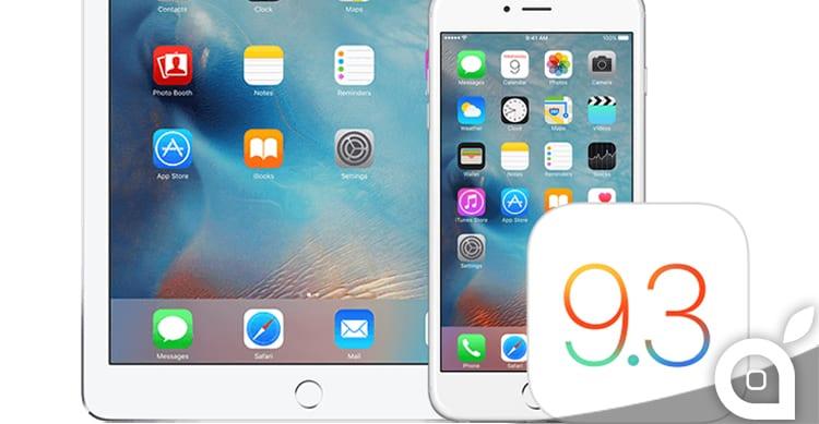 Apple ha chiuso le firme di iOS 9.3.1