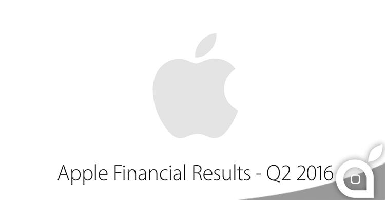 Ecco i risultati fiscali Apple del secondo trimestre 2016! Ricavi per 50,6 miliardi di dollari e 51 milioni di iPhone venduti