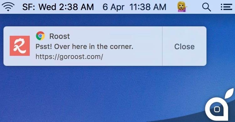 notifiche google chrome mac