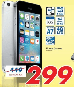 iphone 5s 16gb prezzo mediaworld