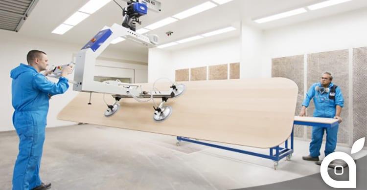 Svelato il primo elemento degli interni dell'Apple Campus 2: tavoli in legno lunghi 5,5 metri