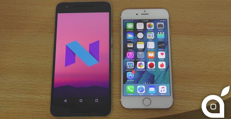 """Android """"N"""" vs iOS 9: le 5 caratteristiche del sistema operativo Google non presenti su iOS"""