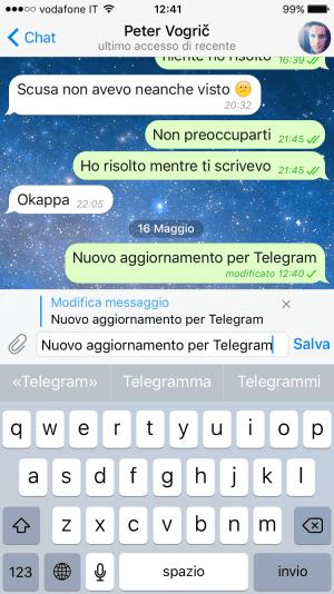 Modifica Messaggi Telegram