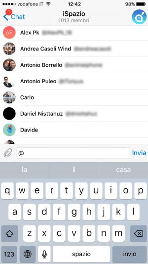 Nuove Menzioni Telegram