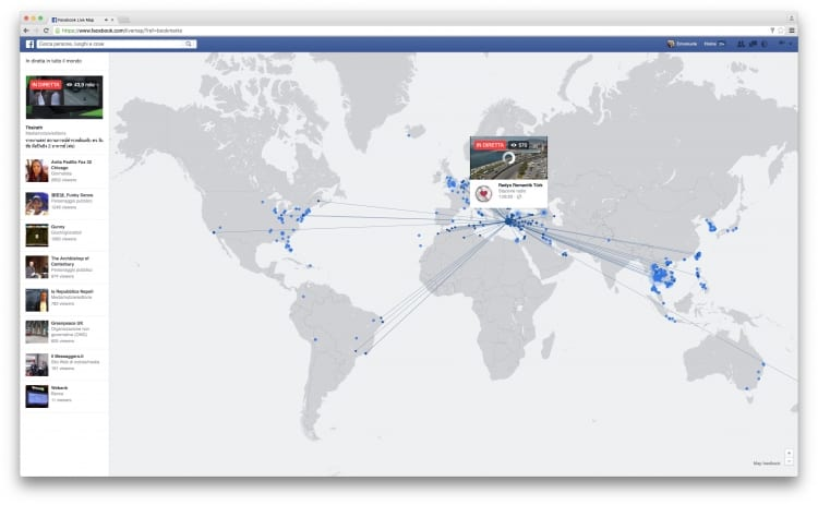 live streaming map Facebook