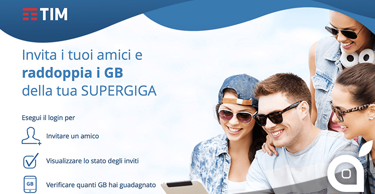 TIM SuperGIGA, 5GB a 9 € più 1GB per ogni amico invitato