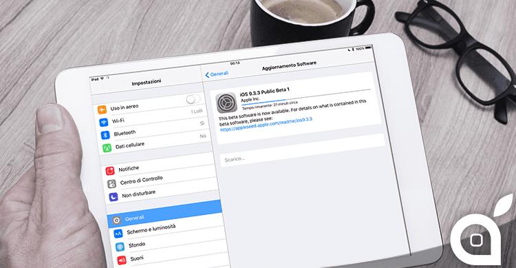 Apple rilascia le prime beta di iOS 9.3.3 e OS X El Capitan 10.11.6 ai beta tester pubblici