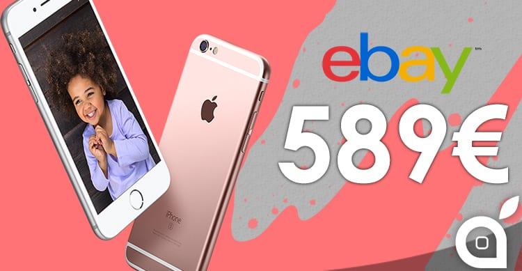 iPhone 6s in oro rosa e grigio siderale scontati di 200 euro su eBay!