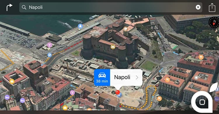 napoli apple maps flyover 3d