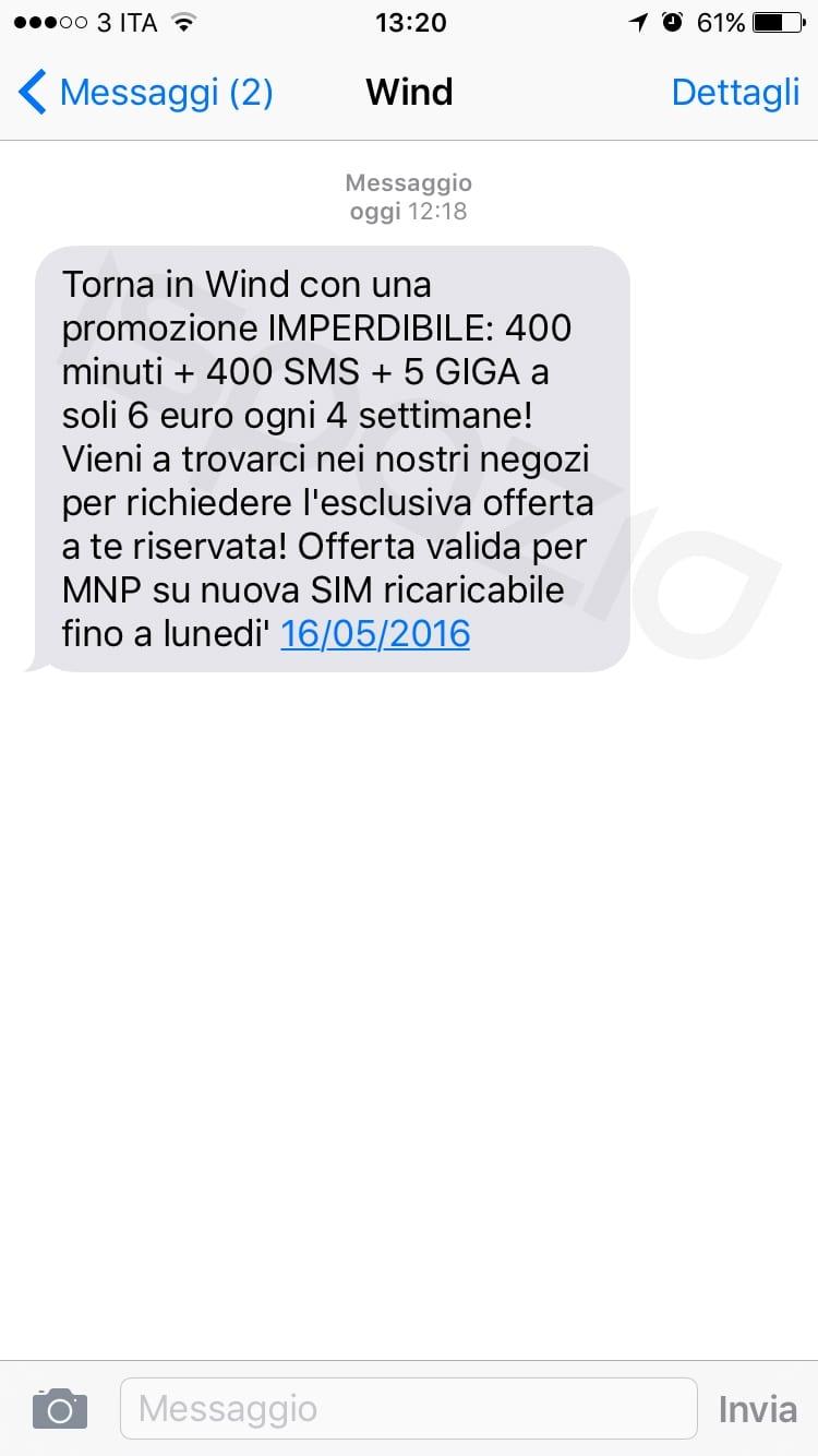 sms wind ispazio