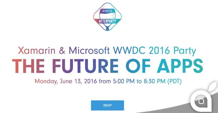 Microsoft organizza il WWDC16 Afterparty che si terrà proprio dopo l'evento Apple