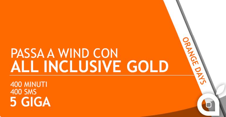 Passa a Wind con questo COUPON ed ottieni la All Incluse Gold con 400 minuti/sms e 5GB a 6€