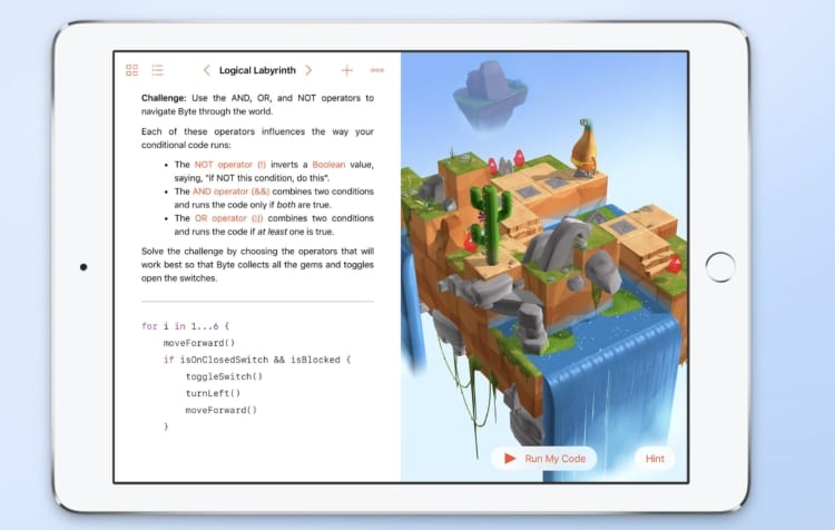 Swift Playgrounds preview