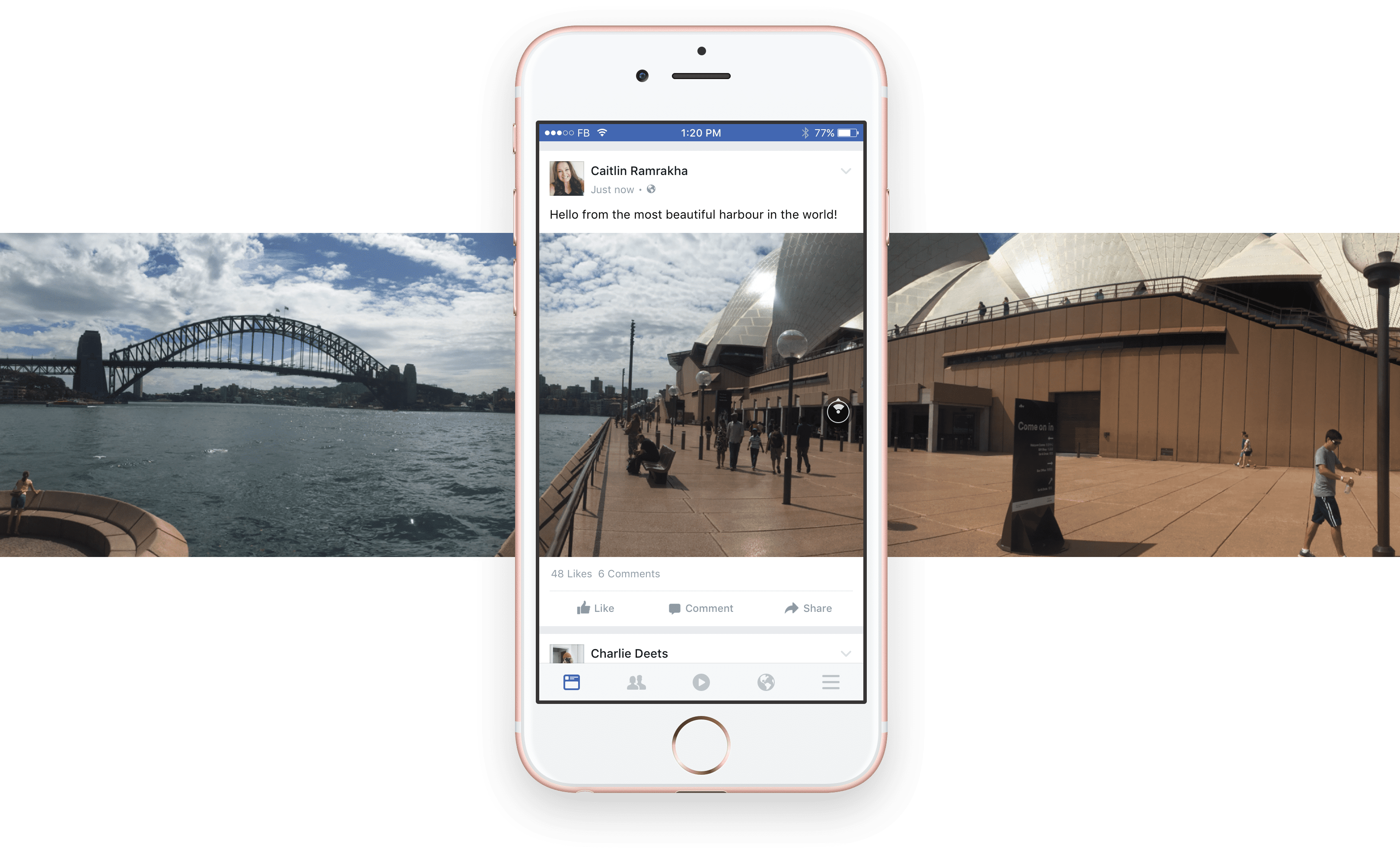 Zuckerberg lancia le foto a 360 gradi