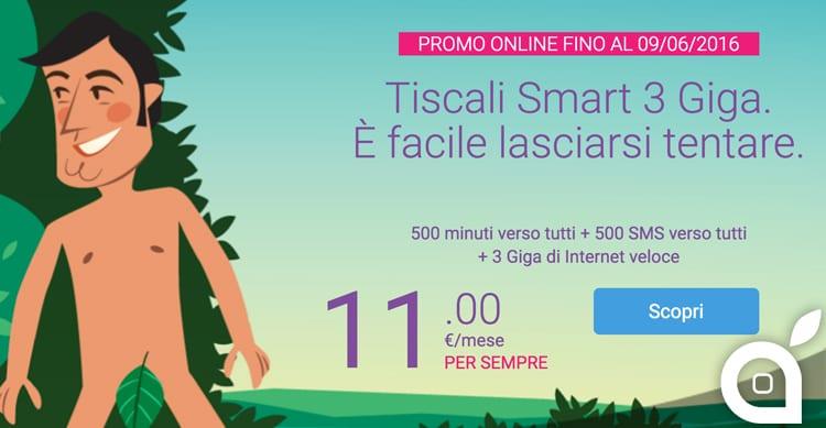 Tiscali Smart 3 GB: 500 minuti, 500 messaggi e 3 GB ad un prezzo conveniente