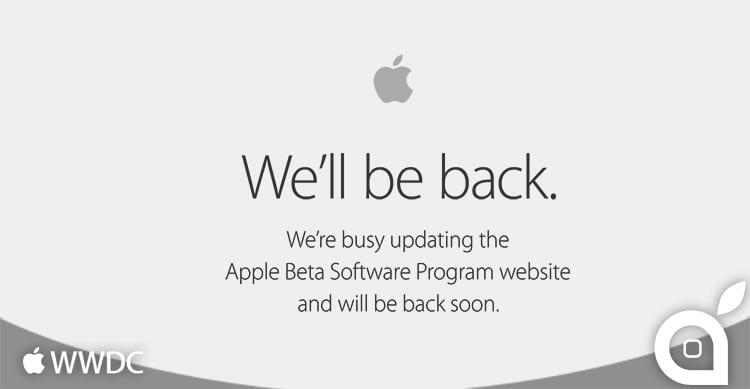 Temporaneamente offline il sito Apple dedicato ai beta tester pubblici