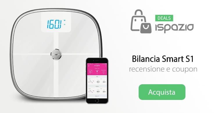 Bilancia Smart Koogeek S1 che si interfaccia all'iPhone con Bluetooth e WiFi | Recensione e Coupon