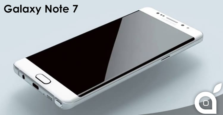 Trapelati in rete dei render del Samsung Galaxy Note 7: display dual-EDGE e USB-C [Video]