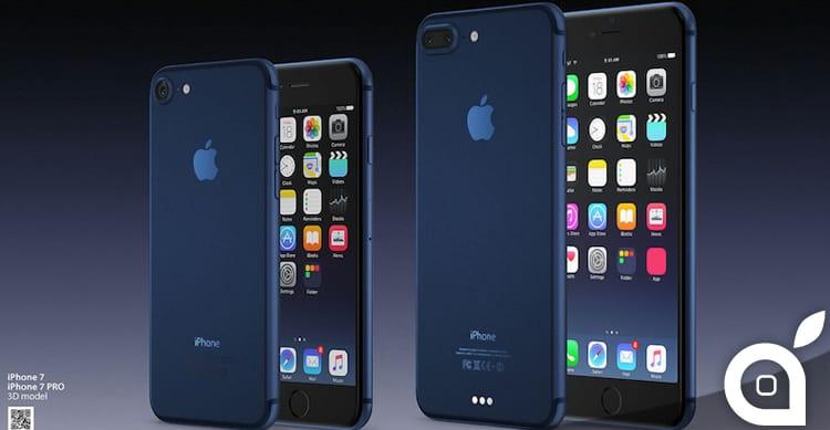 """iPhone 7 nella colorazione """"Deep Blue"""" si mostra in un nuovo concept"""