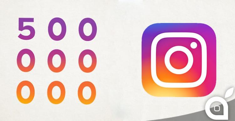 Instagram tocca quota 500 milioni di utenti al mese