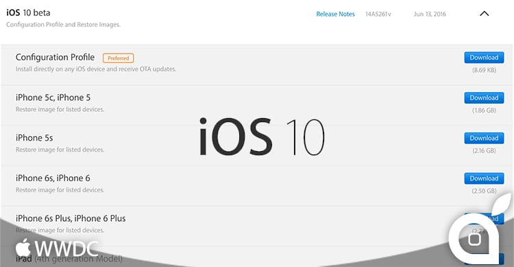 Apple rilascia le beta di iOS 10, watchOS 3, tvOS 10 e macOS 10.12 Sierra