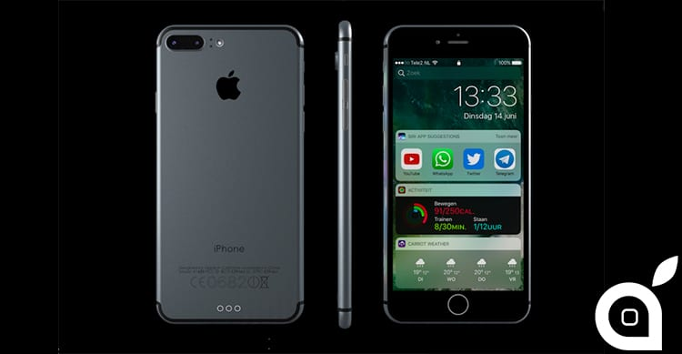 iPhone 7 con iOS 10 mostrati in un nuovo Concept