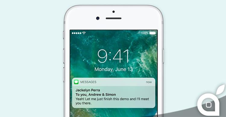 Le nuove notifiche avanzate di iOS 10, arriveranno anche sui dispositivi sprovvisti di 3D Touch