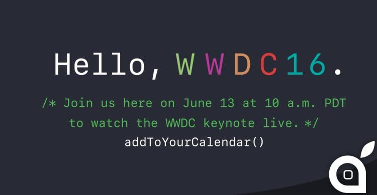 WWDC 2016: anche quest'anno sarà possibile seguire il keynote in diretta streaming