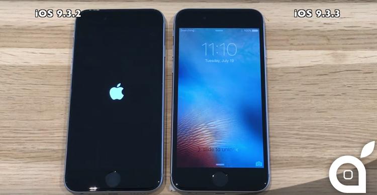 iOS 9.3.3 vs iOS 9.3.2