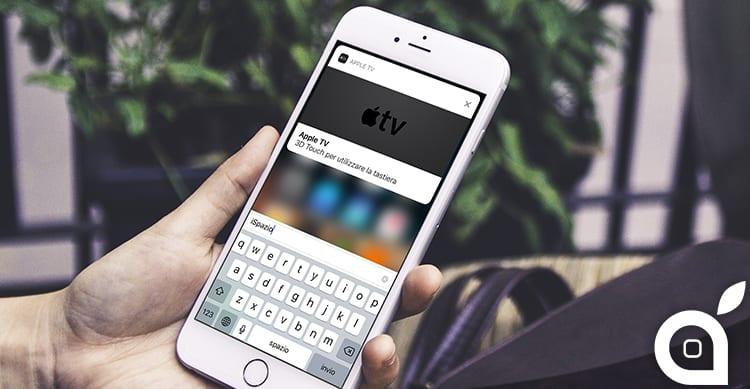 La Apple TV adesso può inviare notifiche push all'iPhone per facilitare l'immissione del testo