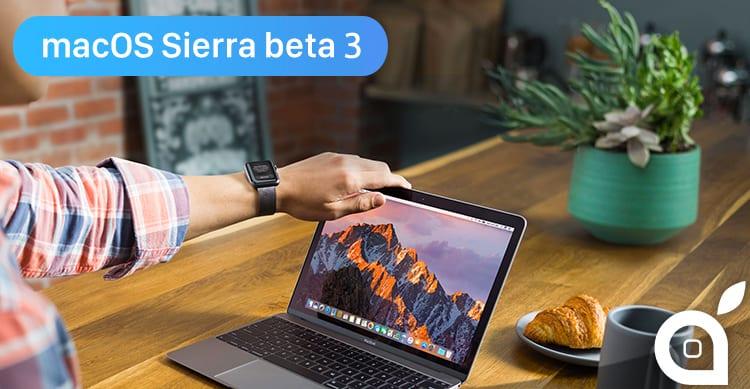 Apple rilascia macOS Sierra beta 3