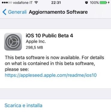 iOS 10 beta 4 tester