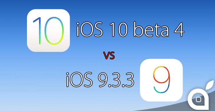 iOS 10 beta 4 e iOS 9.3.3 si sfidano in uno speed test [Video]