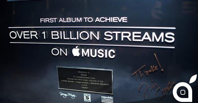 """""""Views"""" di Drake è il primo album a superare il miliardo di riproduzioni su Apple Music!"""