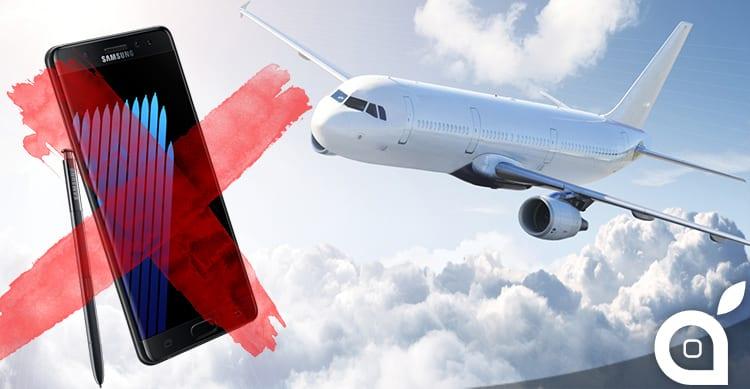 """Galaxy Note 7 """"esplosivi"""": la FAA invita gli utenti a non caricare i dispositivi in aereo"""